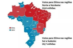 Mapa da eleição