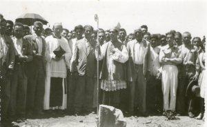 Baubeginn der Pfarrschule in der Gemeinde Pedras Altas - 1949