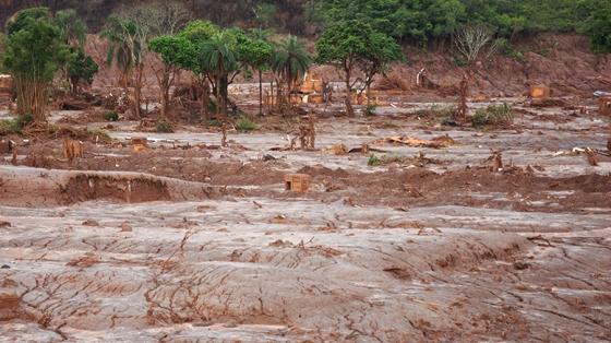 Lokalaugenschein in der Gemeinde Bento Rodrigues. Foto Joka Madruga