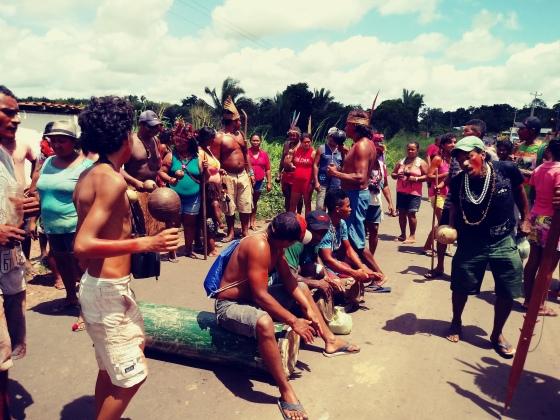 Ritual im indigenen Dorf Cajueiro Piraí zwei Tage vor dem Massaker_Gamela_2
